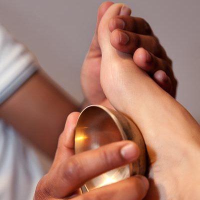 Ayurvedic Foot Massage with Bowl